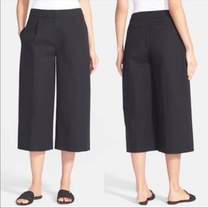 Kate Spade black culottes wide-leg pants stretch 4